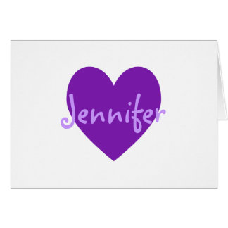 Tarjeta Jennifer en púrpura