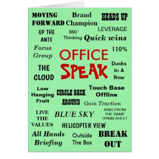 Tarjeta Jerga divertida de la gestión de la oficina - el