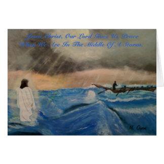 Tarjeta Jesucristo, nuestro señor Gives Us paz