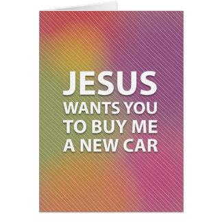 Tarjeta Jesús superficial