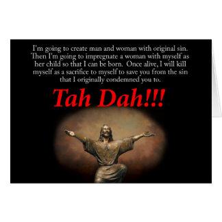 Tarjeta Jesús.  ¡Tah Dah!!!  Navidad