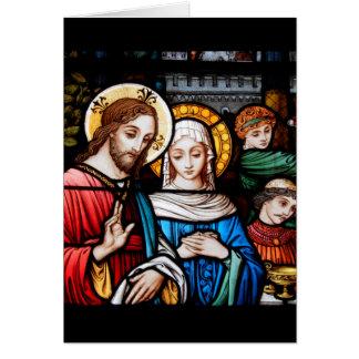 Tarjeta Jesús y Maria