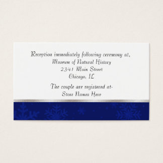 Tarjeta Jeweled azul elegante del recinto del boda