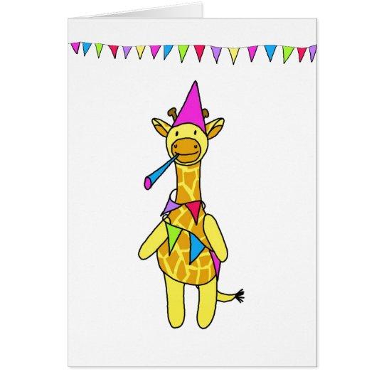 Tarjeta Jirafa del cumpleaños
