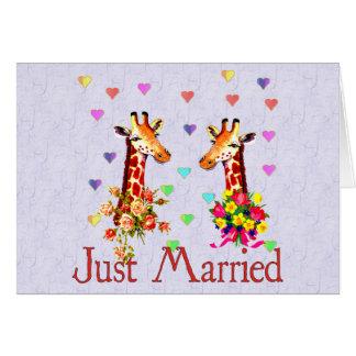 Tarjeta Jirafas del boda