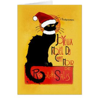 Tarjeta Joyeux Noël Du Chat Noir