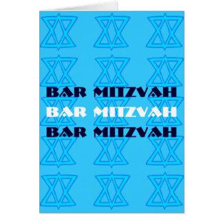 Tarjeta judía de la BARRA MITZVAH de la estrella