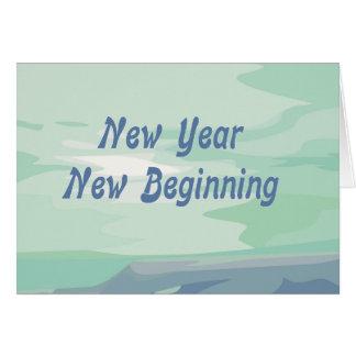 Tarjeta judía del Año Nuevo del nuevo principio