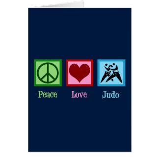 Tarjeta Judo del amor de la paz