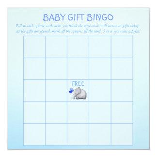 Tarjeta Juego azul del bingo del bebé de la ducha del bebé