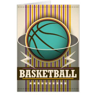 Tarjeta Juego de pelota del deporte del baloncesto fresco