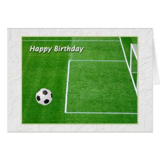 Tarjeta Jugador de fútbol del feliz cumpleaños
