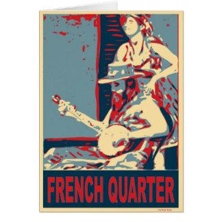 Tarjeta Jugador del banjo del barrio francés