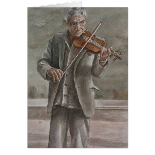 Tarjeta Jugador del violín, Subotica