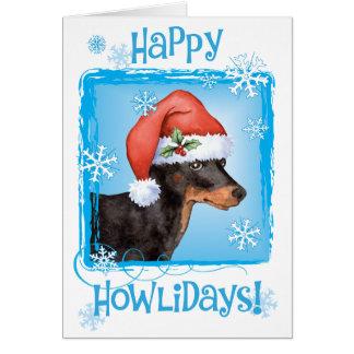 Tarjeta Juguete feliz Manchester Terrier de Howlidays
