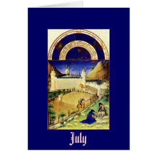 Tarjeta Julio, la baya de Tres Riches Heures du Duc de