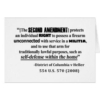 Tarjeta Jurisprudencia de la enmienda de DC v Heller en