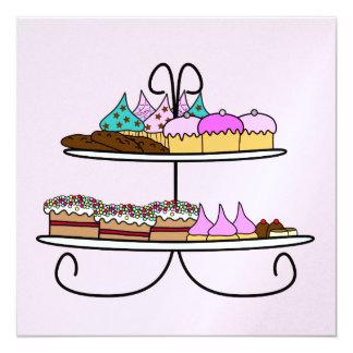Tarjeta kaart high tea met cupcakes