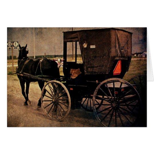 Tarjeta Kalona, cochecillo de Iowa Amish, cumpleaños