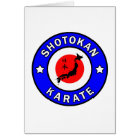 Tarjeta Karate de Shotokan
