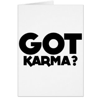 Tarjeta Karmas conseguidas, palabras del texto