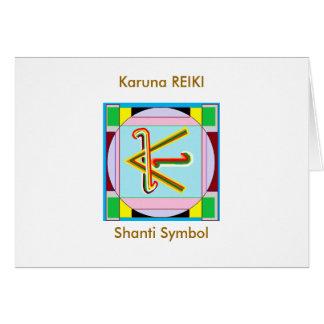 Tarjeta KARUNA Reiki: La paz de Shanti esté con todos
