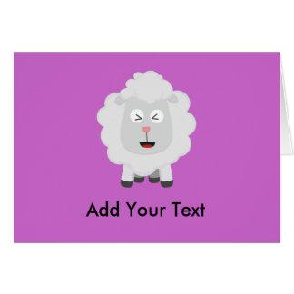 Tarjeta Kawaii lindo Zxu64 de las ovejas