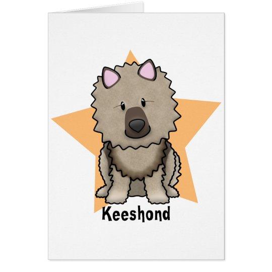 Tarjeta Keeshond de la estrella de Kawaii