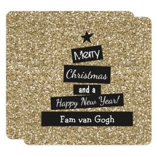 Tarjeta Kerst Glitter en Glamour