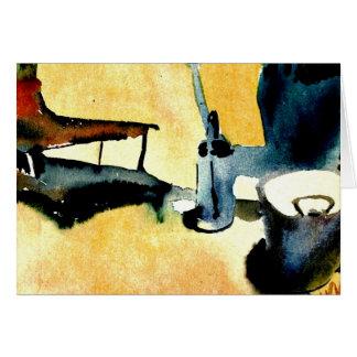 Tarjeta Klee - soporte, regadera y cubo de flor