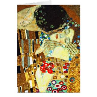 Tarjeta Klimt - el beso