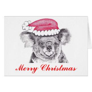 Tarjeta Koala del navidad