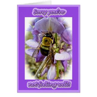 Tarjeta La abeja de carpintero de las glicinias y del
