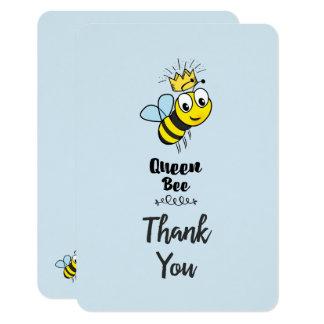 Tarjeta La abeja reina linda con la corona le agradece