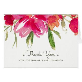 Tarjeta La acuarela floral le agradece que casa Photocards