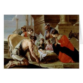 Tarjeta La adoración de los pastores, c.1638