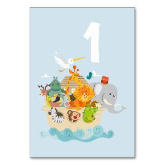 Tarjeta La arca de Noah - animales