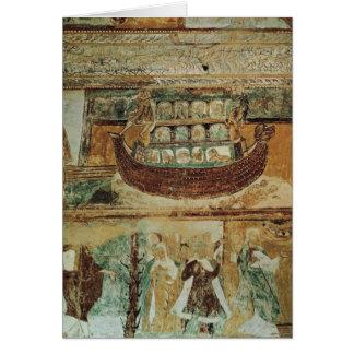 Tarjeta La arca durante la inundación, c.1100 de Noah