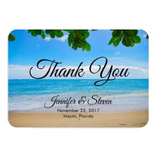 Tarjeta La arena tropical de Sun de la playa y el boda del