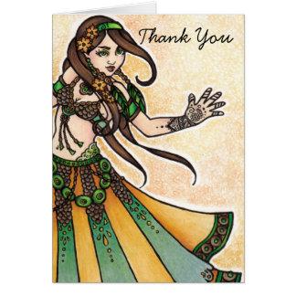 Tarjeta La bailarina de la danza del vientre le agradece