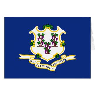 Tarjeta La bandera de Connecticut