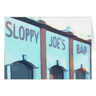Tarjeta La barra de Joe descuidado