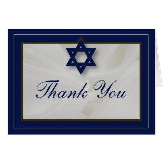 Tarjeta La barra elegante Mitzvah de la tela le agradece