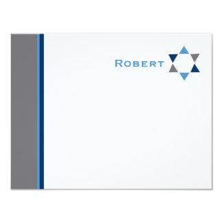 Tarjeta La barra moderna Mitzvah de la estrella le