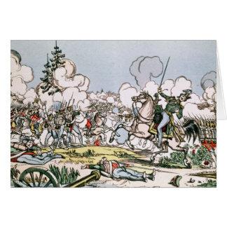 Tarjeta La batalla de Moscú, el 7 de septiembre de 1812