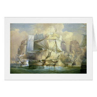 Tarjeta La batalla de Trafalgar, el principio del Acti