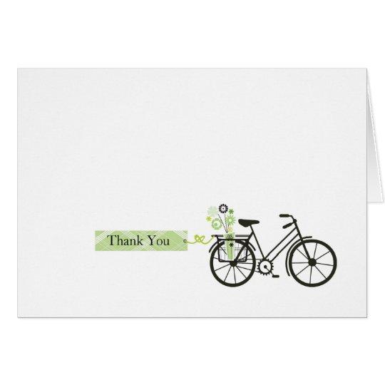 Tarjeta La bicicleta le agradece cardar