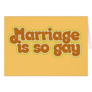 Tarjeta La boda es tan gay