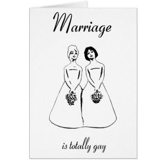 Tarjeta La boda es totalmente gay - los pares femeninos