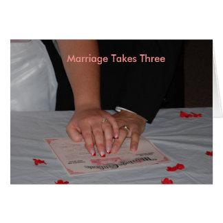 Tarjeta La boda toma tres